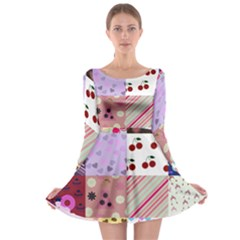 Quilt Of My Patterns Long Sleeve Skater Dress