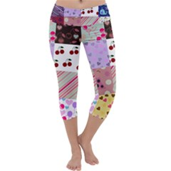Quilt Of My Patterns Capri Yoga Leggings