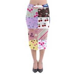 Quilt Of My Patterns Midi Pencil Skirt