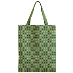 Green Brown  Eggs On Green Zipper Classic Tote Bag