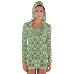 Green Brown  Eggs On Green Long Sleeve Hooded T Shirt