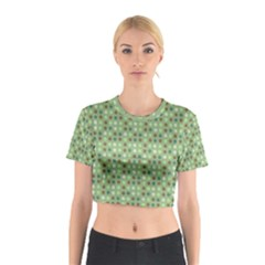 Green Brown  Eggs On Green Cotton Crop Top