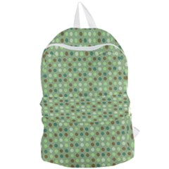 Green Brown  Eggs On Green Foldable Lightweight Backpack