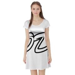 Code White Short Sleeve Skater Dress