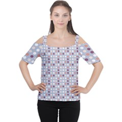 Pink Purple White Eggs On Lilac Cutout Shoulder Tee