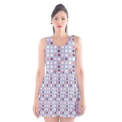 Pink Purple White Eggs On Lilac Scoop Neck Skater Dress