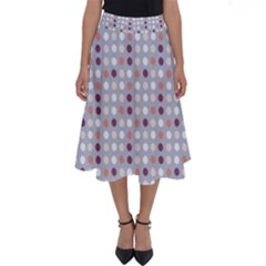 Pink Purple White Eggs On Lilac Perfect Length Midi Skirt