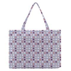 Pink Purple White Eggs On Lilac Zipper Medium Tote Bag