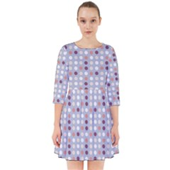 Pink Purple White Eggs On Lilac Smock Dress