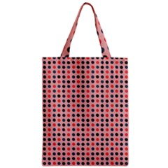 Grey Red Eggs On Pink Zipper Classic Tote Bag