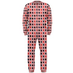Grey Red Eggs On Pink Onepiece Jumpsuit (men)