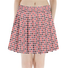 Grey Red Eggs On Pink Pleated Mini Skirt