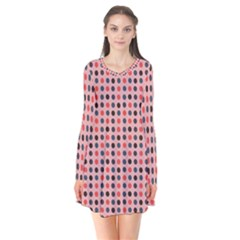 Grey Red Eggs On Pink Flare Dress