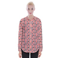 Grey Red Eggs On Pink Womens Long Sleeve Shirt