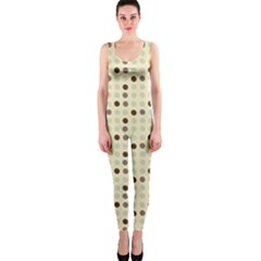 Brown Green Grey Eggs Onepiece Catsuit