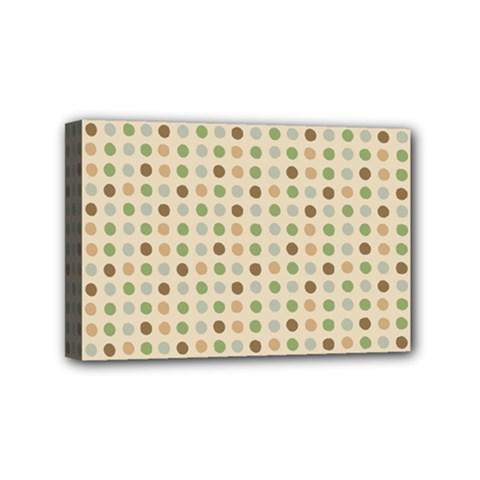 Green Brown Eggs Mini Canvas 6  X 4