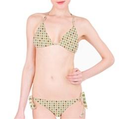 Green Brown Eggs Bikini Set