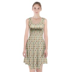 Green Brown Eggs Racerback Midi Dress