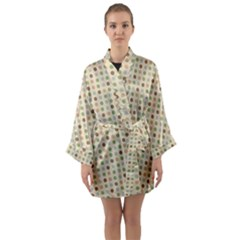 Green Brown Eggs Long Sleeve Kimono Robe