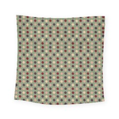 Grey Beige Burgundy Eggs On Green Square Tapestry (small)