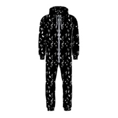 Black Music Notes Hooded Jumpsuit (kids)