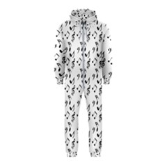 White Music Notes Hooded Jumpsuit (kids)