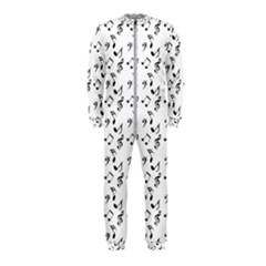 White Music Notes Onepiece Jumpsuit (kids)