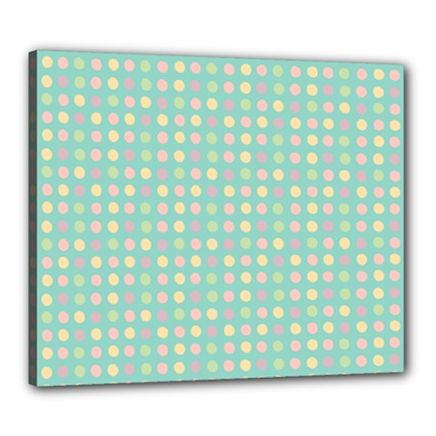 Pink Peach Green Eggs On Seafoam Canvas 24  X 20