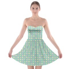 Pink Peach Green Eggs On Seafoam Strapless Bra Top Dress
