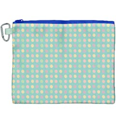 Pink Peach Green Eggs On Seafoam Canvas Cosmetic Bag (xxxl)