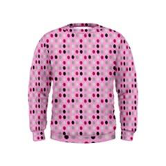 Grey Magenta Eggs On Pink Kids  Sweatshirt