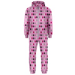 Grey Magenta Eggs On Pink Hooded Jumpsuit (men)