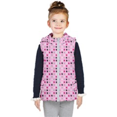 Grey Magenta Eggs On Pink Kid s Puffer Vest