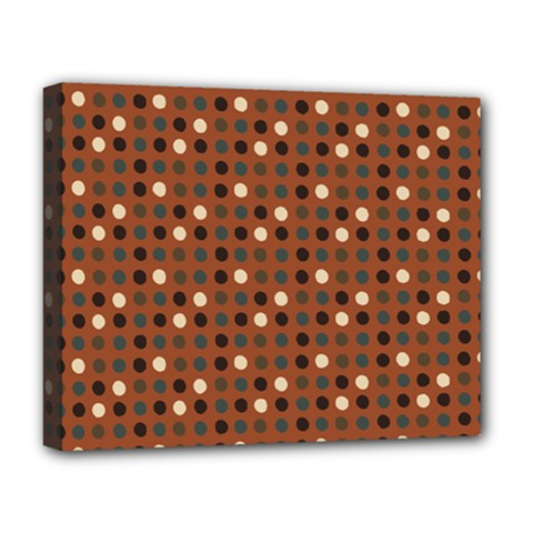 Grey Eggs On Russet Brown Deluxe Canvas 20  X 16