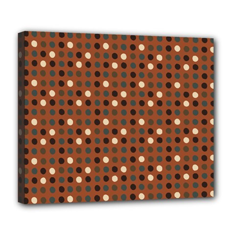 Grey Eggs On Russet Brown Deluxe Canvas 24  X 20