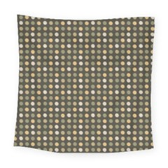 Grey Beige Eggs On Dark Grey Square Tapestry (large)