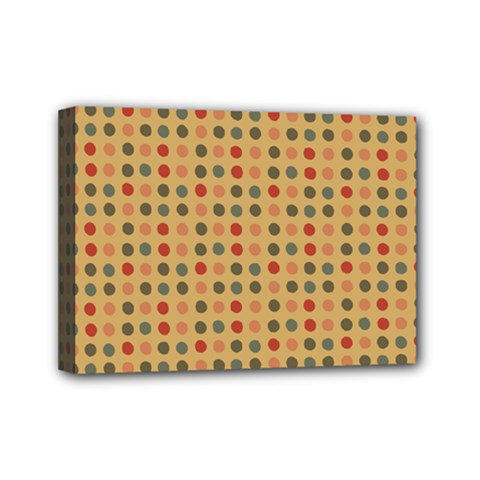 Grey Brown Eggs On Beige Mini Canvas 7  X 5