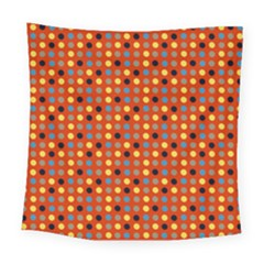 Yellow Black Grey Eggs On Red Square Tapestry (large)