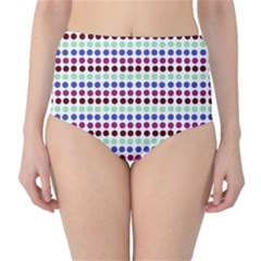 Multi White Dots High Waist Bikini Bottoms