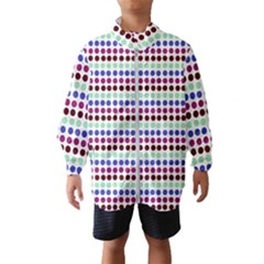 Multi White Dots Wind Breaker (kids)