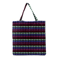 Multi Black Dots Grocery Tote Bag