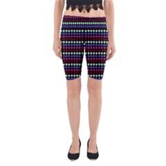Multi Black Dots Yoga Cropped Leggings
