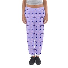 Winter Hat Snow Heart Lilac Blue Women s Jogger Sweatpants