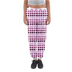 Pink Red Dots Women s Jogger Sweatpants