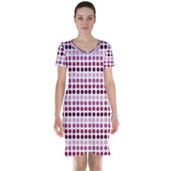 Pink Red Dots Short Sleeve Nightdress