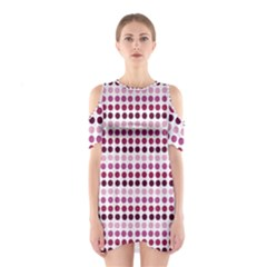 Pink Red Dots Shoulder Cutout One Piece