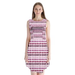 Pink Red Dots Sleeveless Chiffon Dress