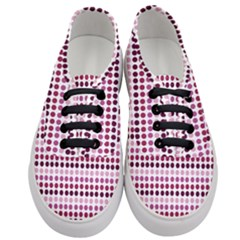 Pink Red Dots Women s Classic Low Top Sneakers
