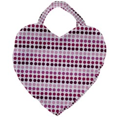 Pink Red Dots Giant Heart Shaped Tote