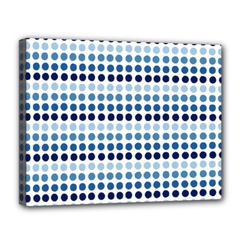 Blue Dots Canvas 14  X 11